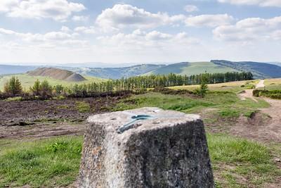 Mynydd Machen views -08 Summit Trig point