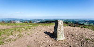 Mynydd Machen views -10 Summit Trig point