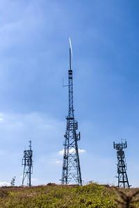 Mynydd Machen views -03 Transmitter masts