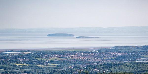 Mynydd Machen views -16 Steep Holm and Flat Holm off Cardiff Bay