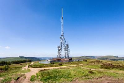 Mynydd Machen views -06 Transmitter masts