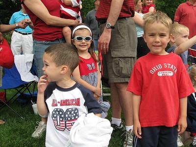 Kellen, Jake, and Carmen at the Worthington Memorial Day Parade