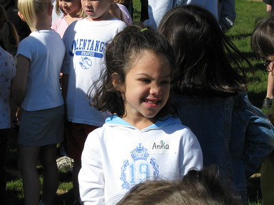 Anna at her first field day