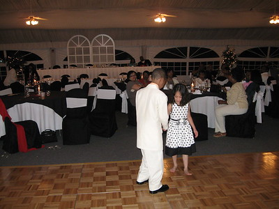 Anna dancing with her cousin, Christian.  So sweet.