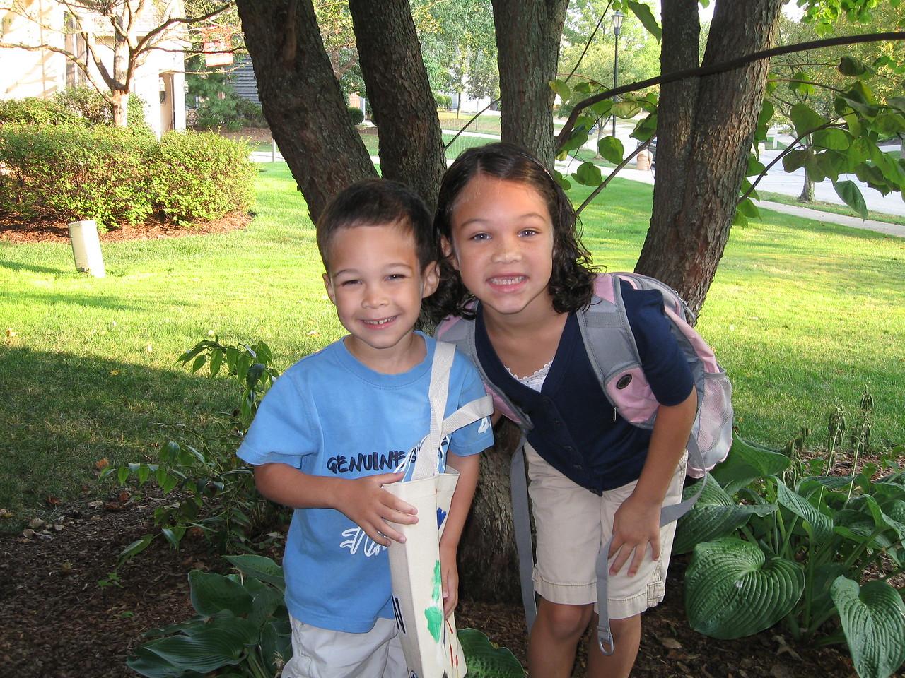 Kellen's first day of preschool