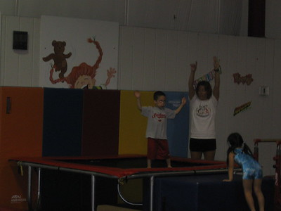 "kellen's first ""tumbling"" class (not gymnastics to make tone happy)"