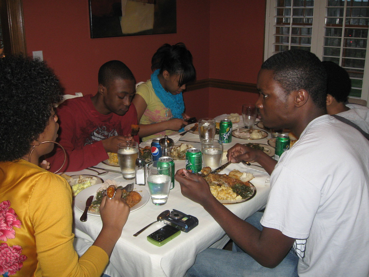 We hosted Thanksgiving dinner with Antonio's family