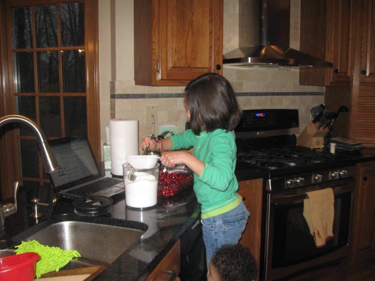 Anna making cranberry relish