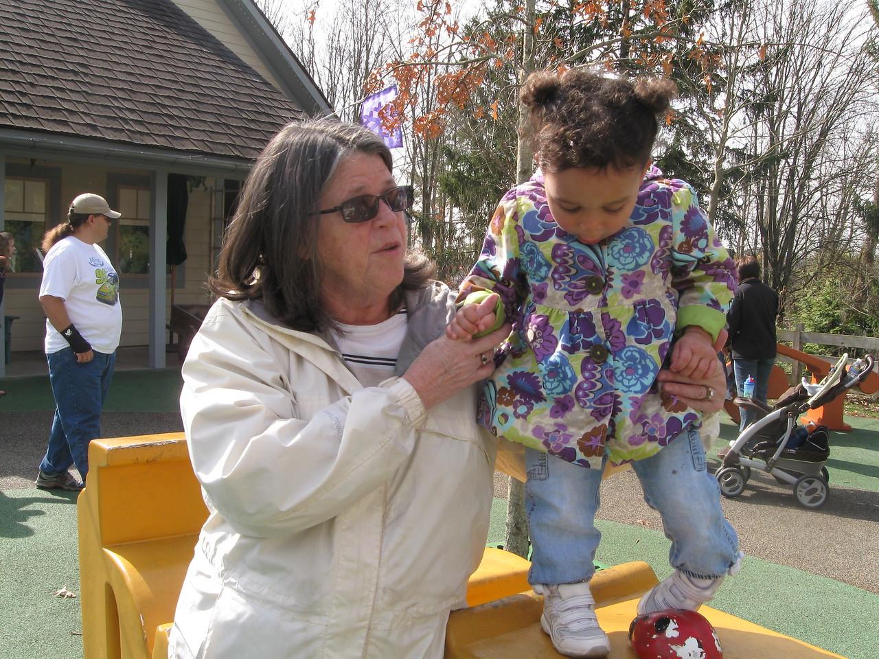 Nanna and Megan at the zoo