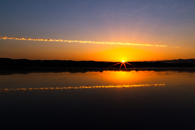 Sunset over Pismo Creek