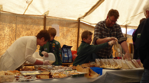 Ian and Toby Helping out at the Scouts Catering Tent