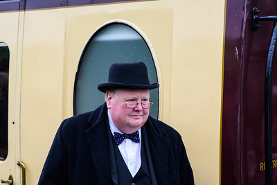 Winston Churchill at Cheddleton