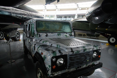 I can't remember what the defender was doing in the USAF Hanger, but seem to remember it was a bit battered