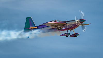 Bill Stein conducting aerobatics routine