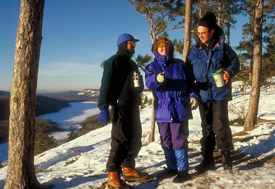 Stacey, Rob and I, Winter, Porkies