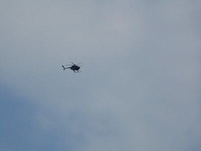 helicopter that circled