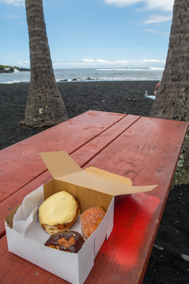 Malasada Donuts on Punaluʻu Beach
