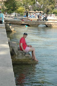 Janet on the sea front