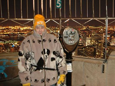 Janet at the top of the Empire State building
