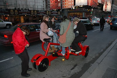 A strange self propelled Taxi - cum bicycle