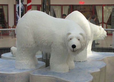 Polar Bears in the MacArthur Glen Shopping Centre, Livingstone