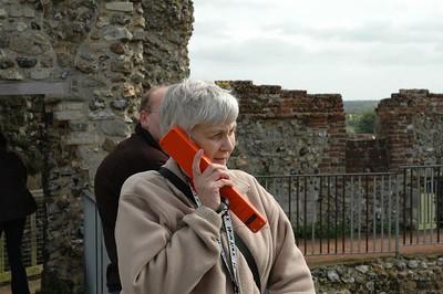 Janet at Framlingham Castle
