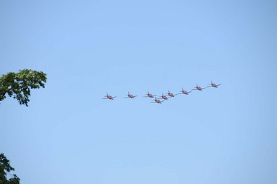 Red Arrows over Christchurch