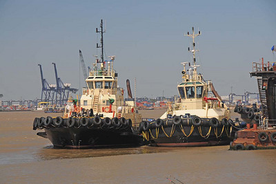Tugs at Ipswich Docks