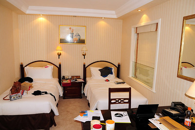 Our Room at the Eaton Hotel, Kowloon