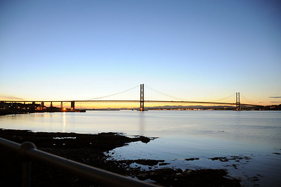 Forth Bridges at dusk