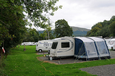 Caravan Club Site at Killin