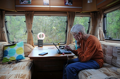 Inside our Caravan at Killin