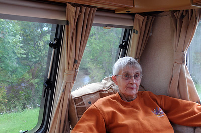 Inside our Caravan