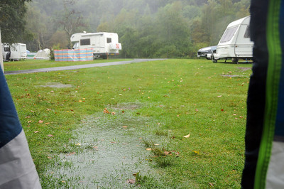 Rain at Loch Lomond Camp Site