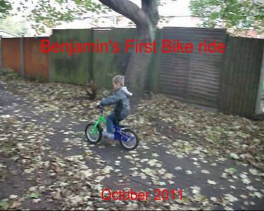 Benjamin's First Bike Ride