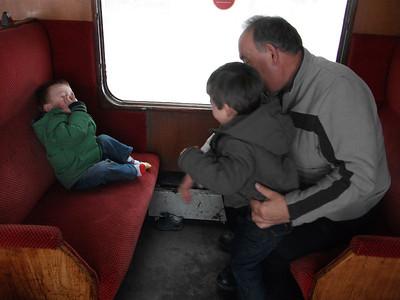 Bo'ness & Kinneil Train, Granddad, Benjamin & Toby;