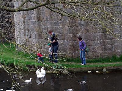 Ian, Sarah, Benjamin & Toby at Whittington Castle