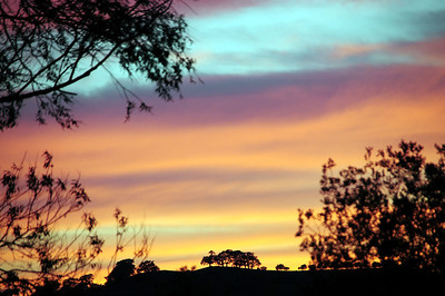 Sunset by the Vyrnwy Caravan Park