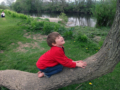 Benjamin at the Vyrnwy Caravan Park