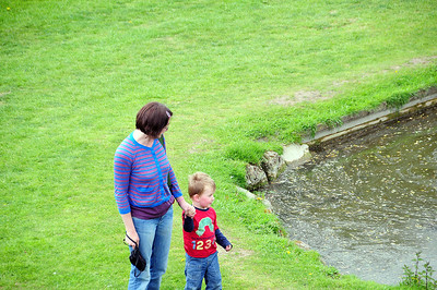 Sarah,& Toby at Whittington Castle