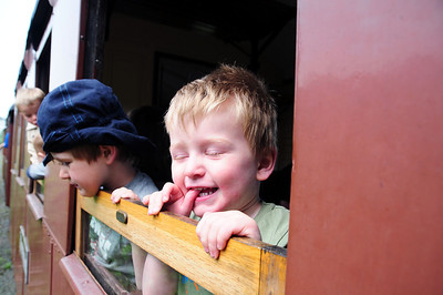 Benjamin & Toby at The Welshpool and Llanfair light Railway