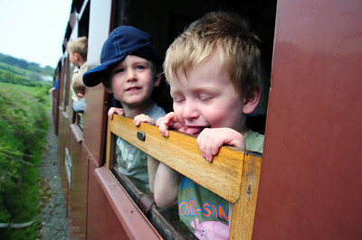 Benjamin & Tobt at The Welshpool and Llanfair light Railway