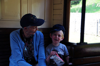 Nanny & Benjamin at The Welshpool and Llanfair light Railway
