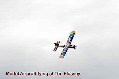 Model Aircraft fying at The Plassey