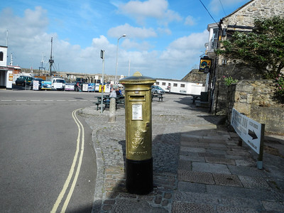Penzance, a Golden Post box, I wonder who it is for?  Helen Glover, Women's Pairs Rowing