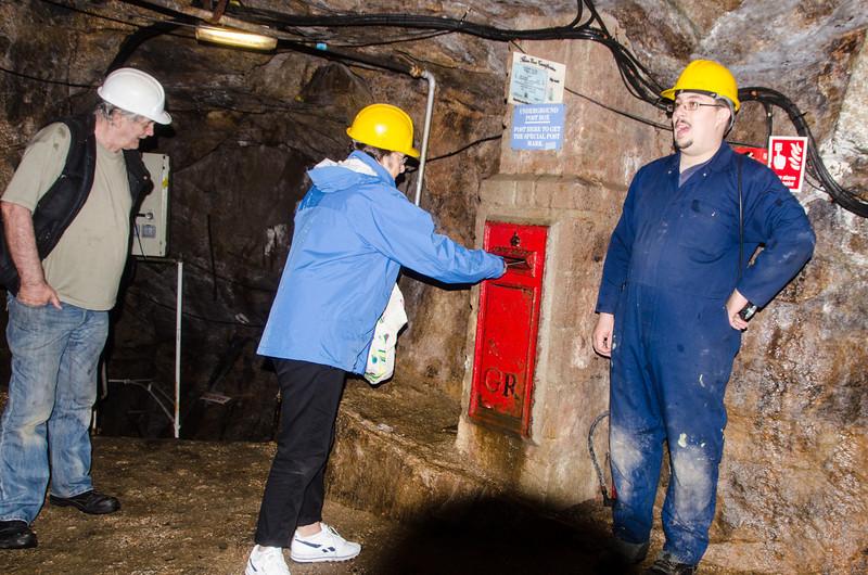 Poldark Mine, underground Post box
