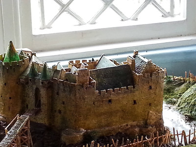 A model of the castle before Cromwell had at it