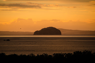 Spectacular Sunset over Bass Rock