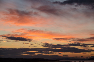 Spectacular Sunset over Dunbar