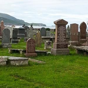The graveyard at Balkaneil bay